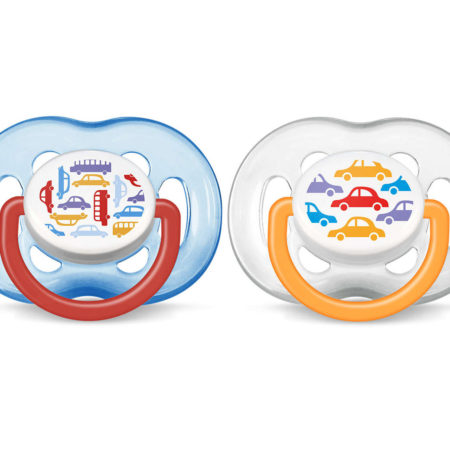 Philips Avent BPA Free Freeflow Baby Pacifier, Cars (6-18M) - Pack of 2-0
