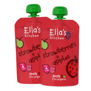Ella's Kitchen Organic Strawberries & Apple Puree (4M+) - 120 gm (Pack of 2)-0