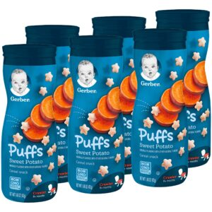 Gerber Graduates Sweet Potato Puffs Cereal Snack - 42gm (Pack of 6)-0