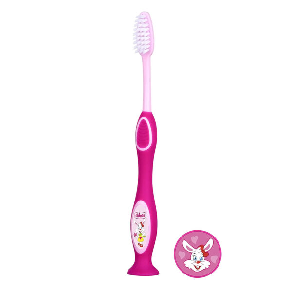 Chicco Milk ToothBrush For Kids 3 to 6 Years, Pink-26494