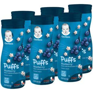 Gerber Graduates Puffs, Blueberry, 42gm (Pack of 6)-0