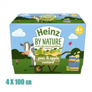 Heinz By Nature Pear & Apple Custard, (4M+) - 4x100gm-0