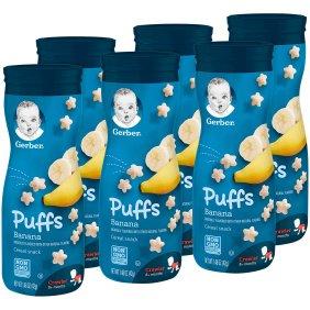 Gerber Graduates Puffs, Banana, 42gm (Pack of 6)-0