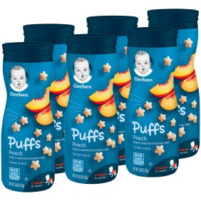 Gerber Graduates Puffs, Peach - 42gm (Pack of 6)-0