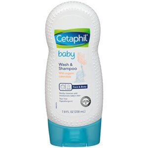 Cetaphil Baby Wash & Shampoo with Organic Calendula, 7.8 Fl. Oz-0