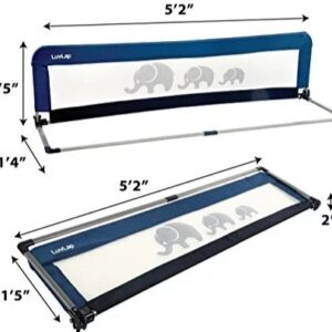 LuvLap Bed Rail Guard for Baby Safety (158cm x 44cm) -1 Pc -(Blue)-0