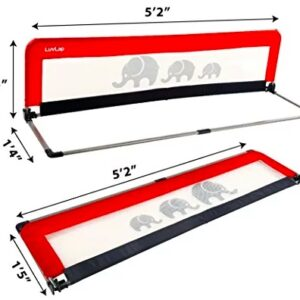LuvLap Bed Rail Guard for Baby Safety (158cm x 44cm) -1 Pc- (Red)-0