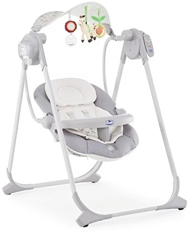 Chicco polly swing up ( Silver)-0