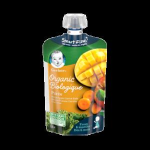 GERBER® Organic Purée, Mango Apple Carrot Kale, Baby Food 128 ml, BIOLOGIGUE-0