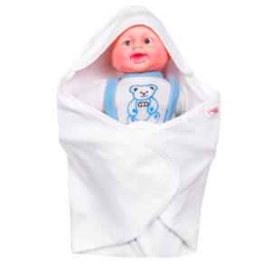 Popees white hooded towel-0