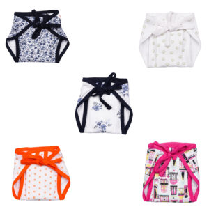 Baby's World soft padded nappy pack of 5 ( 0-6 months)-0