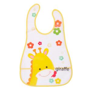 Baby Non-Spill Plastic Bib Giraffe-0