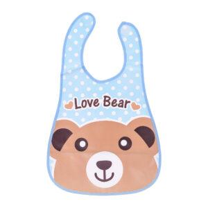 Baby Non-Spill Plastic Bib Love bear-0