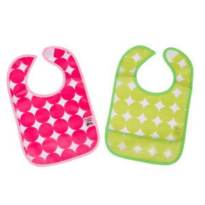 Plastic bibs pack of 2 with pocket-0
