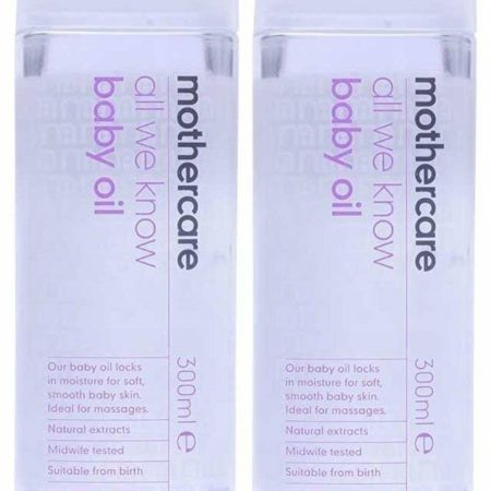 Mothercare All We Know Baby Oil 300ml, Pack of 2 (600ml total)-0