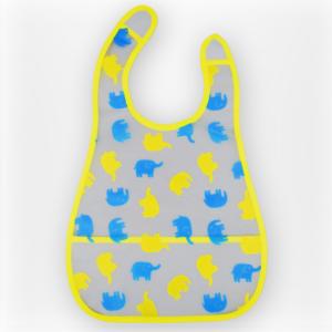 Baby Non-Spill Plastic Bib yellow-0