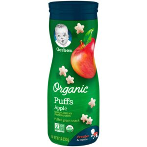 Gerber Organic Puffs - Apple, Naturally Flavored 42gm-0