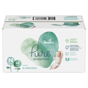 Pampers Pure Disposable Baby Diapers, New Born - 68 Pcs-0
