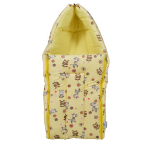 Quilted Soft Foldable Sleeping Bag - Yellow-0
