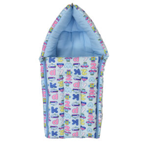 Quilted Soft Foldable Sleeping Bag - Sky Blue-0