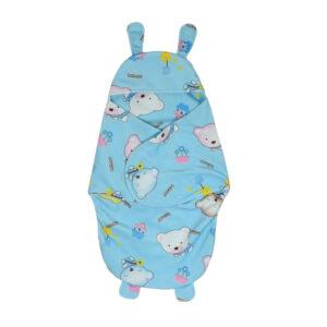 Penguin Style Baby Soft Swaddle - Sky Blue-0