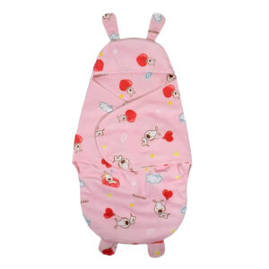 Penguin Style Baby Soft Swaddle - Pink-0