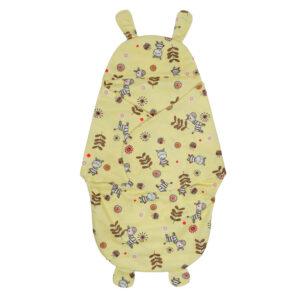 Penguin Style Baby Soft Swaddle - Yellow-0