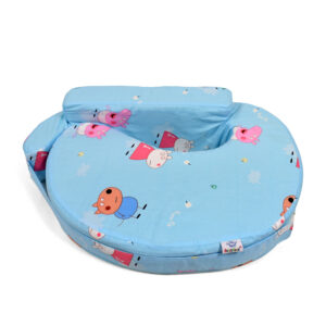Baby Feeding Pillow, Peppa Pig Print - Sky Blue-0