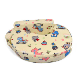 Baby Feeding Pillow (Teddy Print) - Yellow-0