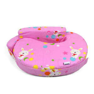 Baby Feeding Pillow (Rabbit Print) - Pink-0