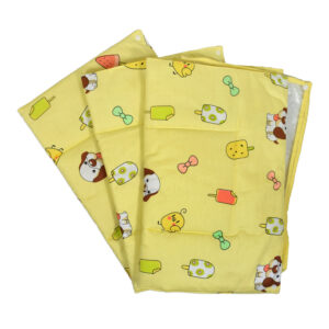 3 in 1 Changing Sheets Premium Quality Cotton Cum Plastic 0 Months+ Yellow-0