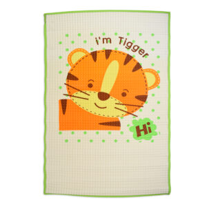 Jungle Air Filled Baby Rubber Cot Sheet, Tiger Print - Multicolor-0