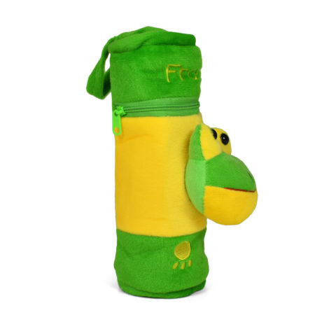 Feeding Bottle Cover With Frog Plush Toy - Green-0