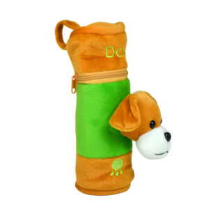 Feeding Bottle Cover With Plush Dog - Brown-0