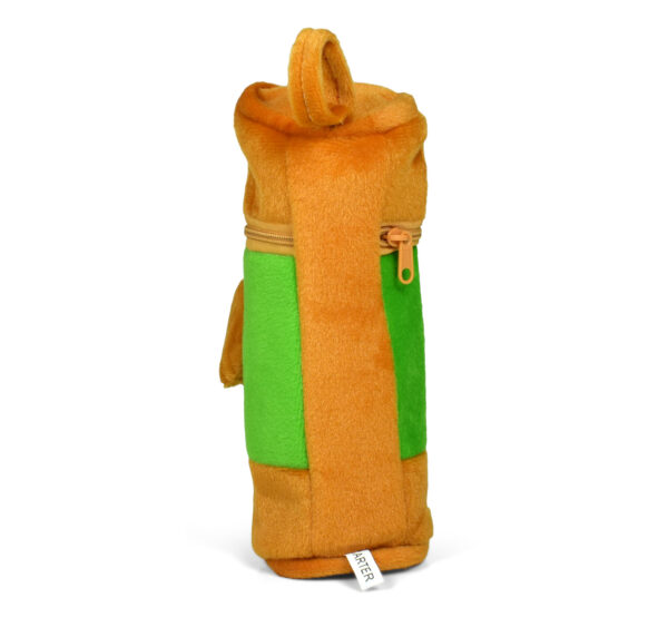 Feeding Bottle Cover With Plush Dog - Brown-27351