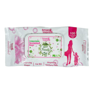 Smart Mom Compostable Scented Bags, Car Bin - 100 Pcs-0