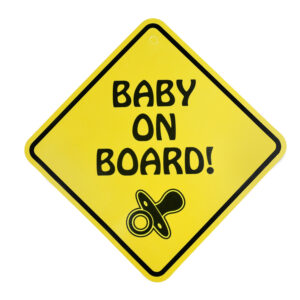 """Baby Caution Car Sticker """"Baby on Board""""-0"""