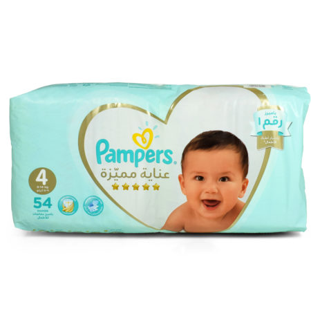 Pampers Premium Care Diapers, Size 4, Value Pack - 9-14 kg, 54 Count-0