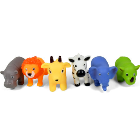 Multicolor Animal Bath Toys, Choo Choo Toys - Pack of 6-0