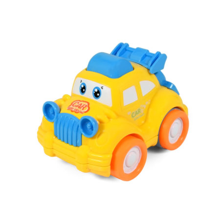Funny Musical Friction Car - Yellow/Blue-0