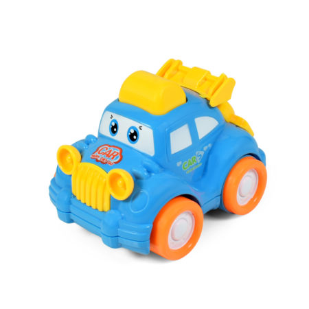 Funny Musical Friction Car - Blue/Yellow-0