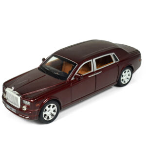1:24 Scale Pull Back Die Cast Rolls Royce Phantom Musical Luxury Car - Mehroon-0