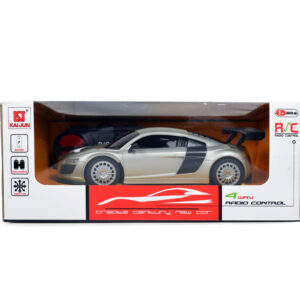 4 Way Remote Control Super Racing Car - Grey-0