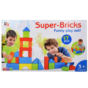 Super-Bricks Building Blocks Set of 17 Pieces-0