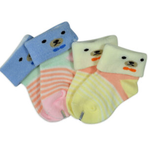 New Born Baby Socks Pack of 2 - Multicolor-0