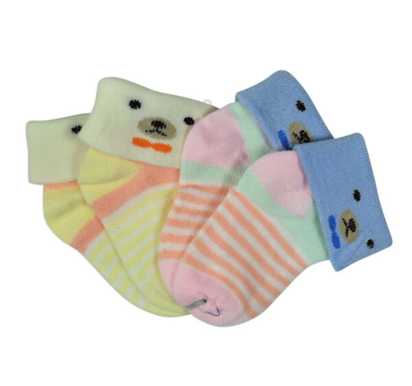 New Born Baby Socks Pack of 2 - Multicolor-27968