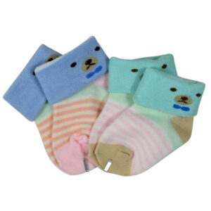New Born Baby Socks Pack of 2 - Blue/Aqua-0