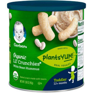 Gerber Organic Lil Crunchies White Bean Hummus (12M+) - 45gm-0