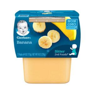 Gerber 2nd Foods Banana, 113gm Tubs, 2 Count-0