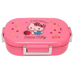 Jaypee Missteel Insulated Hello Kitty Plastic Lunch Box Set, 700ml, 3-Pieces - Pink-0